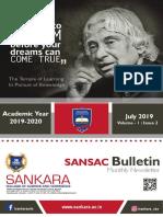 SANSAC Bulletin July 2019 (Volume 1- Issue 2)