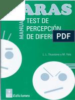 Caras Manual Test de Percepcion de Diferencias