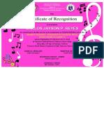4-Certificate Music Facilitator