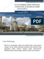 Prarancangan Pabrik Kimia Diethyl Ether Dari Ethanol Kapasitas New