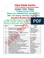Trb Pgt Botany Answer Key by Dr. t.vijaya Kumar Sri Vijay Study Center