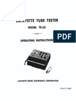 TE-50 Operating Instructions