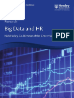 Henley Centre for HR Excellence Big Data Research Paper