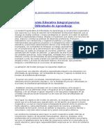 CARATERIZACI+ôN DEL EDUCANDO CON DIFICULTADES DE APRENDIZAJE