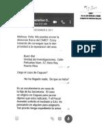 Texteos Entre La Fiscal de Distrito de San Juan, Melissa Vázquez, y La Jefa de Fiscales, Olga Castellón, y La Secretaria de Justicia, Wanda Vázquez Diciembre 2017 (Noticel)
