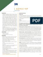 Penetron admixture data sheet