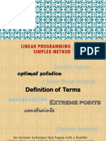 Linear Programming Maximization Method