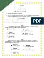 Mapeh 4 1st Quarter Long Quiz Manuals
