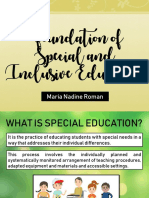 Foundation of Special and Inclusive Education