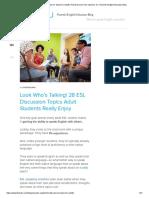 28 ESL Discussion Topics