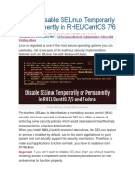 How to Disable SELinux Temporarily or Permanently in RHEL