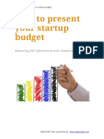 Presenting Your Startup Budget