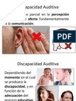 CARACTERISITCAS DE LA DISCAOACIDAD AUDITIVA