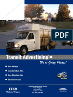 Transit Advertising Brochure Single Pages