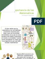 Importancia de Las Matematicas