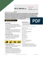 Shell Rimula R3 X 15W 40 TDS
