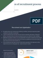 Impact of digitalisation on recruitment process focusing on ATS