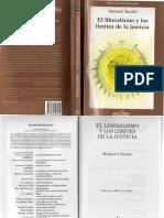 284831622 54308805f3109 Sandel Michael El Liberalismo y Los Limites de La Justicia Editorial Gedisa 2000