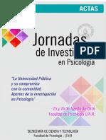 Actas Vi Jornadas de Investigación en Psicología - 2016 22-08-2017