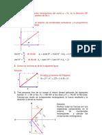 Hallar Las Componentes Rectangulares Del Vector