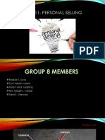 Chapter 11- Personal Selling