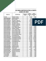 Listado de Precios Para Motocicletas a Partir Del 01 Junio - Precio06
