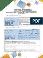 Guía de Actividades y Rúbrica de Evaluación Taller 4. Comprensión y Producción Del Discurso Argumentativo (1)