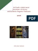 Indice Dei Fondi e Relativi Mezzi Di Descrizione e Di Ricerca
