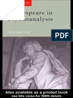 Shakespeare in Psychoanalysis, Philip Armstrong 2001