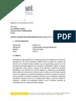 Informe Prueba Hidrostatica
