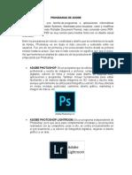 Programas de Adobe