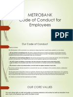 Metrobank Code of Conduct