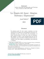 La Alegría del Amor Alegrías, Tristezas y Esperanzas - Josef Seifert.pdf