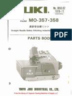 Juki MO-357, MO-358