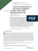Extraction Separation Cadmium