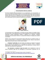 Comunicacion Interna y Externa-Tecnicas de comunicación a nivel empresarial