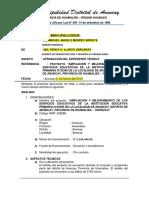 Informe de Infraestructura