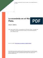 Oscar Valero (2013). La Economia en El Rio de La Plata