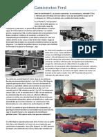 Historia de Las Camionetas Ford
