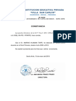 Constancia IEP San Carlos