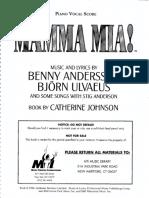 MAMMA MIA Piano-Vocal Score