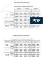 Fees Payment Schedule Fall 2018-19