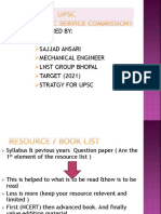 UPSC Presentation Book List