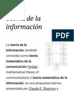 Teoría de La Información - Wikipedia, La Enciclopedia Libre
