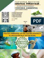 Politica Ambiental- Ley Del Uso Del Plástico en El Sector Retail