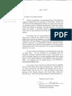 Letter From Archbishop Schnurr to Saint Ignatius Parish Family