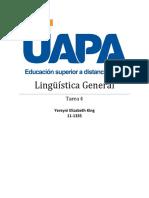Tarea IV de Linguisticaa General