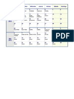 Calendario Estudio Examen de Grado