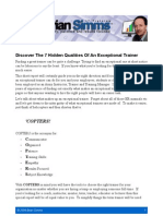 Discover The 7 Hidden Qualities Of An Exceptional Trainer