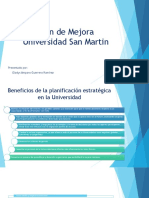 Plan de Mejora Universidad San Martín